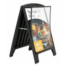 Caballete de plástico negro para carteles DIN A1