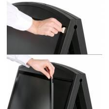 Caballete de plástico para carteles DIN A1 cambio de gráfica