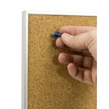 Tablón de anuncios de corcho para usar con chinchetas, no incluidas