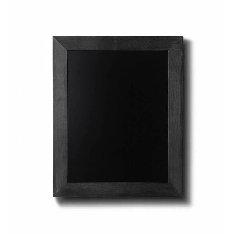 Pizarra de madera barnizada de 30x40 cm negra