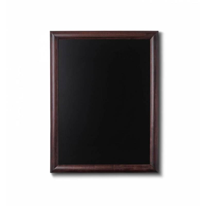 Pizarra de madera barnizada de 50x60 cm marrón oscuro