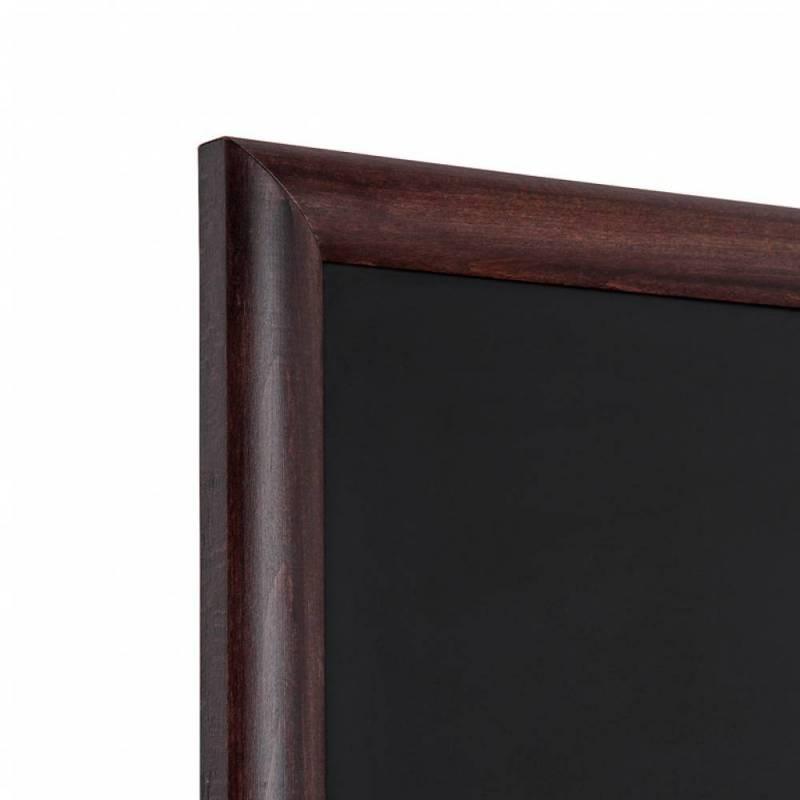 Pizarra de madera barnizada marrón oscuro marco a inglete