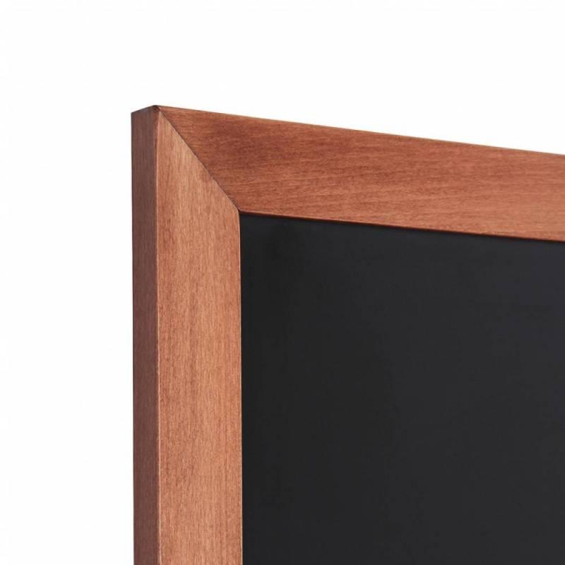 Pizarra de madera barnizada marrón claro marco a inglete