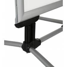 Caballete para exterior con marco de 44 mm patas antiviento