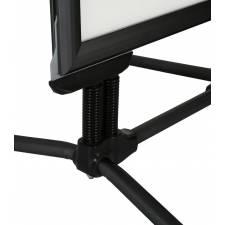 Caballete para exterior con marco negro de 44 mm patas antiviento