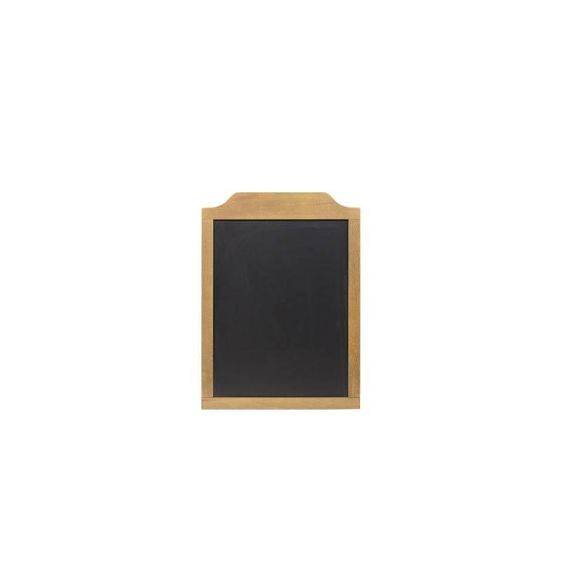 Pizarra de madera de 46x64 cm con marco superior más grueso