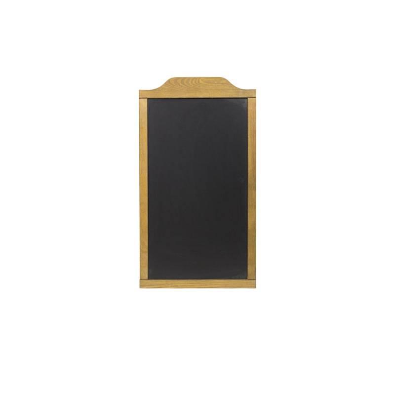 Pizarra de madera de 47x84 cm con marco superior más grueso